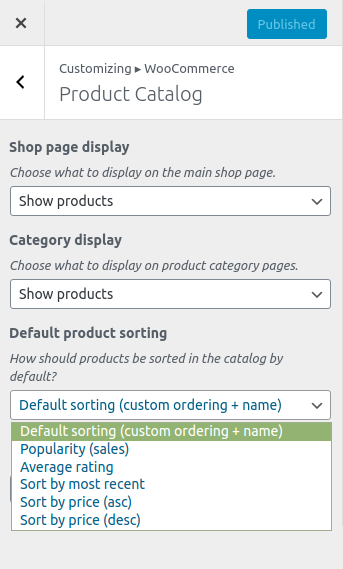 WooCommerce Product Order Dialogue